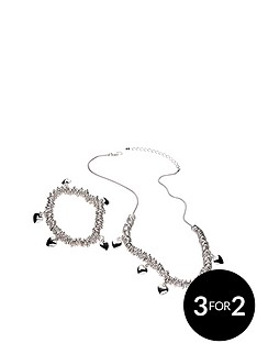 buckley-london-silver-plated-heart-charm-link-chain-ampnbspbracelet-set