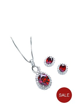 buckley-london-sterling-silver-cubic-zirconia-039red-infinity039-pendant-and-earring-set