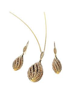 buckley-london-london-gold-plated-light-colorodo-topaz-and-crystal-stones-conch-shell-pendant-and-earring-s