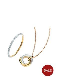 buckley-london-crystal-set-two-tone-pendant-ampnbspbangle-set