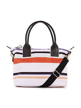 ted-baker-stripe-nylon-tote-bag