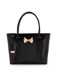 ted-baker-leather-metal-bow-shopper