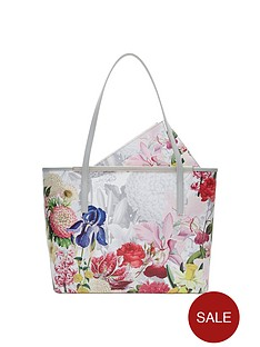 ted-baker-printed-shopper-with-clutch