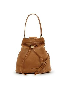 ted-baker-stab-stitch-leather-duffel-bag