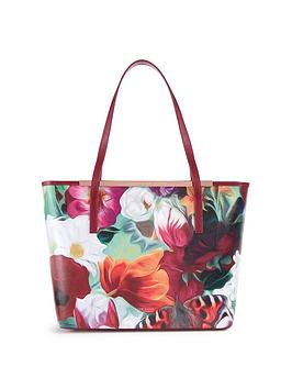 ted-baker-floral-swirl-crosshatch-shopper