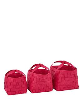 set-of-3-felt-storage-baskets-pink