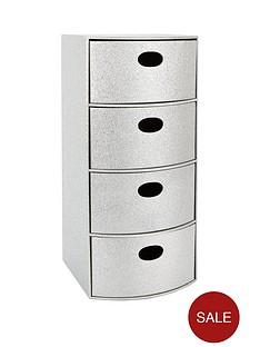 glitter-4-drawer-chest-silver