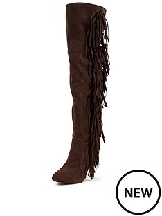 glamorous-fringed-high-heeled-bootsnbsp