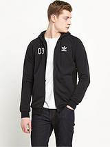 adidas originals Classic Team French Terry Full Zip Hoodie