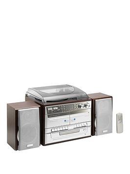 Lenco Cd Radio And Two Cassette Vinyl Player