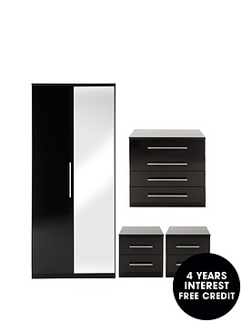 prague-gloss-4-piece-package-2-door-wardrobe-4-drawer-chest-and-2-bedside-cabinets