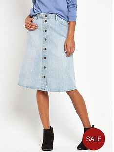levis-midi-button-through-denim-skirt