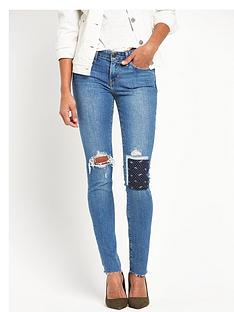 levis-levi-711-rip-and-patch-skinny-jeans