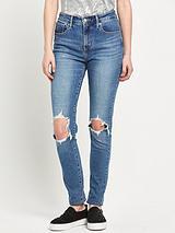 721 Rip Knee High Rise Skinny Jean