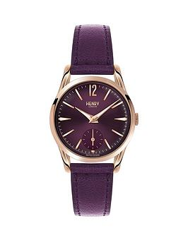 Henry London Henry London Hampstead Berry Dial Berry Leather Strap Ladies Watch