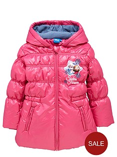 disney-frozen-girls-padded-coat-with-fleece-hood