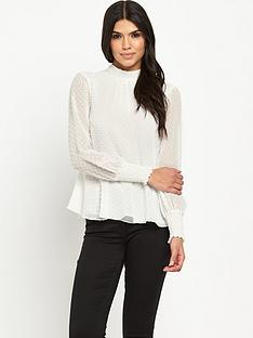 v-by-very-dobby-high-neck-blouse