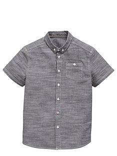 v-by-very-boys-grey-chambray-short-sleeved-shirt