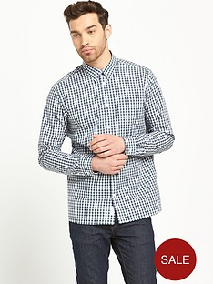 selected-selected-grandad-collar-shirt