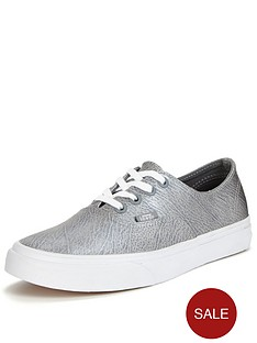 vans-authentic-decon-metallic-leather-plimsolls