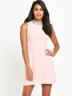 v-by-very-high-neck-diamante-dress