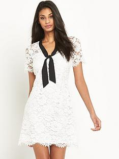 v-by-very-lace-tie-neck-shift-dress