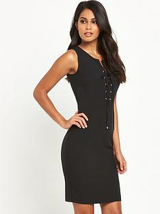 v-by-very-lace-up-pencil-dress