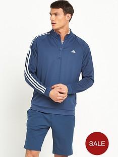 adidas-golf-3-stripe-14-zip-top