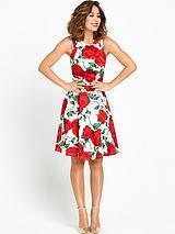 Oversized Floral Scuba Dress