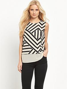v-by-very-double-layer-printed-top