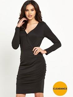lipsy-long-sleeve-wrap-dress