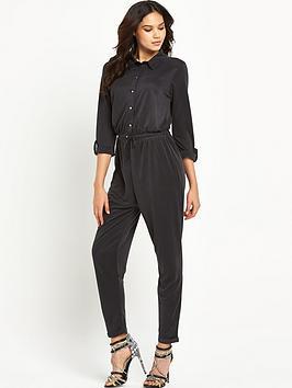 lipsy-black-long-sleeve-jumpsuit
