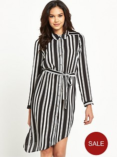 lipsy-mono-long-sleeve-belted-shirt-dress