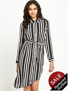 lipsy-mono-long-sleeve-belted-shirt-dress