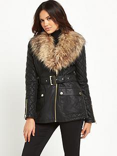 lipsy-michelle-keegan-longline-pu-faux-fur-jacket