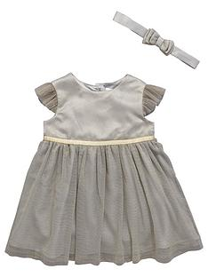 ladybird-baby-girls-lurexnbspoccasion-dress-with-headband-2-piece