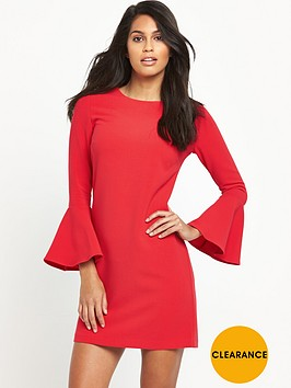 v-by-very-fluted-sleeve-dress