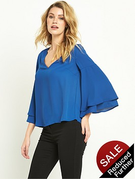 v-by-very-double-layer-sleeve-blouse