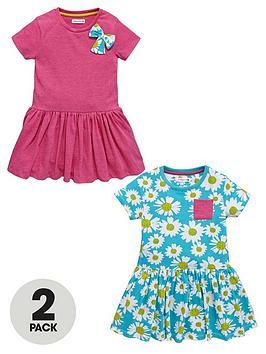ladybird-girls-daisy-jersey-dresses-2-pack