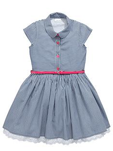 ladybird-girls-ticking-stripe-dress-with-belt