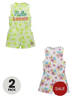 ladybird-girls-hello-summer-jersey-playsuitsnbsp2-pack