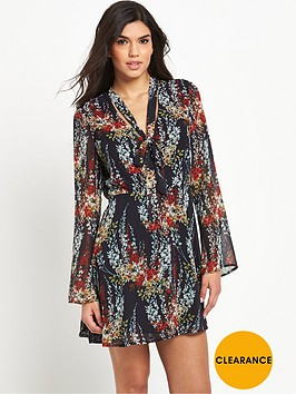 v-by-very-tie-neck-floral-dress