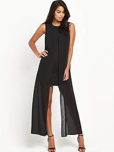 v-by-very-longline-chiffon-bodycon-dress