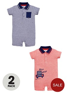 ladybird-boys-pique-polo-rompers-2-pack