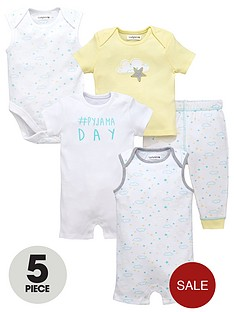 ladybird-baby-unisex-bodysuits-romper-top-and-bottoms-set-5-piece