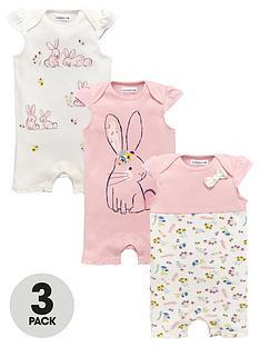 ladybird-baby-girls-bunny-rompers-3-pack
