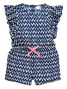 ladybird-girls-bright-chevron-playsuit