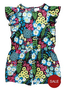ladybird-girls-floral-playsuit