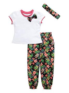ladybird-girls-crepe-traveller-pants-t-shirt-and-headband-set-3-piece