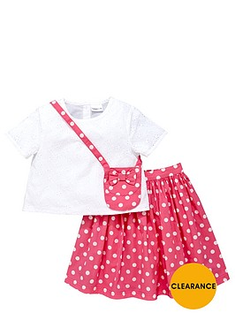ladybird-girls-lace-top-midi-spotty-skirt-and-bag-set-3-piece